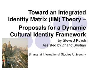 Toward an Integrated Identity Matrix IIM Theory     Proposals for a Dynamic Cultural Identity Framework