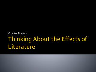 Thinking About the Effects of Literature