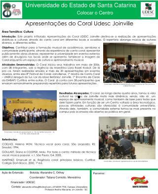 Apresentações do Coral Udesc Joinville