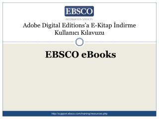Adobe Digital Editions'a E-Kitap İndirme Kullanıcı Kılavuzu