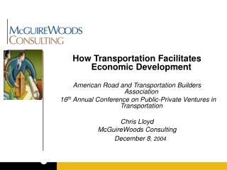 How Transportation Facilitates Economic Development