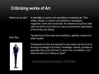 Criticizing works of Art
