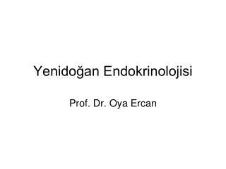 Yenidoğan Endokrinolojisi