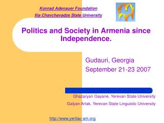 Politics and Society in Armenia since Independence.