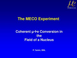 The MECO Experiment