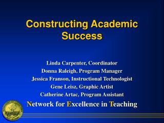 Constructing Academic Success