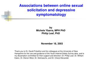 Associations between online sexual solicitation and depressive symptomatology