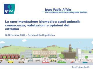 La sperimentazione biomedica sugli animali: conoscenza, valutazioni e opinioni dei cittadini