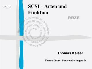 SCSI – Arten und Funktion