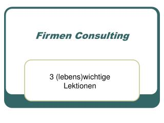 Firmen Consulting