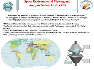 Space Environmental Viewing and Analysis Network (SEVAN)