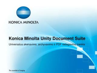 Konica Minolta Unity Document Suite