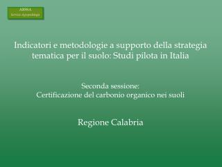 Indicatori e metodologie a supporto della strategia tematica per il suolo: Studi pilota in Italia