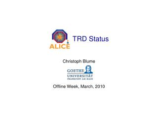TRD Status