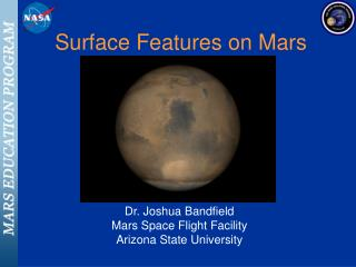Surface Features on Mars