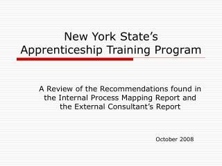 New York State's  Apprenticeship Training Program
