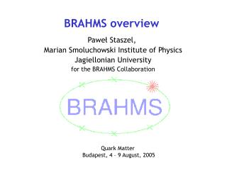BRAHMS overview