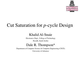 Cut Saturation for p-cycle Design