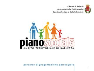 PIANO SOCIALE DI ZONA 2010-2012 AMBITO DI BARLETTA ASSEMBLEA PLENARIA  4 gennaio 2010