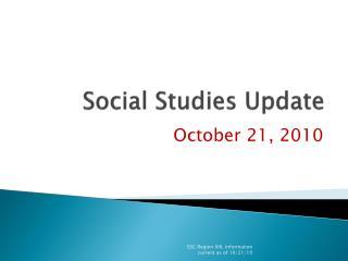 Social Studies Update