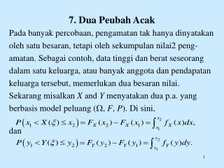 7. Dua Peubah Acak