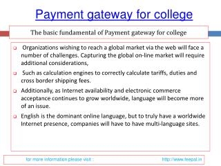 Some Know more about payment gateway for college