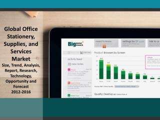 Global Office Stationery, Supplies, and Services Market