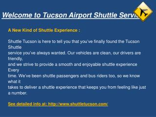 Tucson Airport Shuttle Service