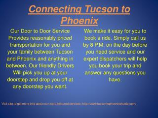 Tucson to Phoenix Shuttle