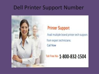 Dell Printer Support Number 1-800-832-1504 | Toll Free