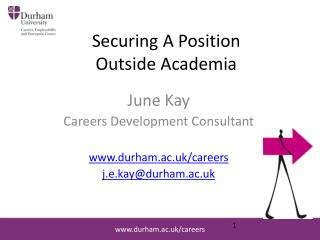 Securing A Position  Outside Academia