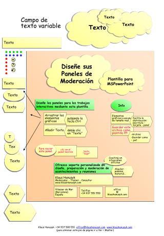 Diseñe los paneles para los trabajos interactivos mediante esta plantilla