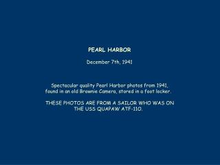 PEARL HARBOR December 7th, 1941  Spectacular quality Pearl Harbor photos from 1941,