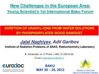 BAKU  MAY 20 – 25, 2013