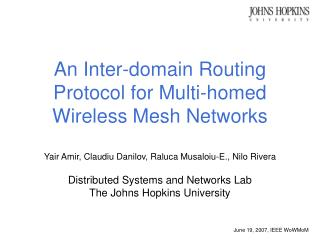 An Inter-domain Routing Protocol for Multi-homed Wireless Mesh Networks