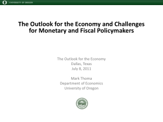 Oregon s Economic  and Revenue Outlook