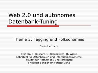 Web 2.0 und autonomes Datenbank-Tuning