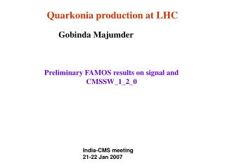 Quarkonia production at LHC