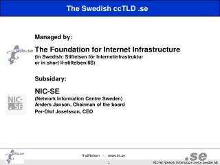 The Swedish ccTLD .se