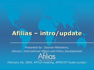 Afilias – intro/update