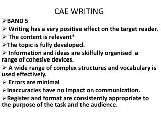 CAE WRITING