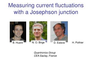 Measuring current fluctuations with a Josephson junction
