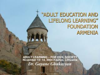 """ADULT EDUCATION AND LIFELONG LEARNING"" FOUNDATION ARMENIA"