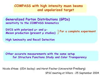 COMPASS with high intensity muon beams                 and unpolarized target