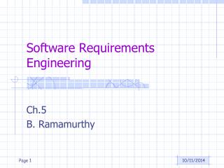 Software Requirements Engineering