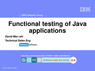 Functional testing of Java applications
