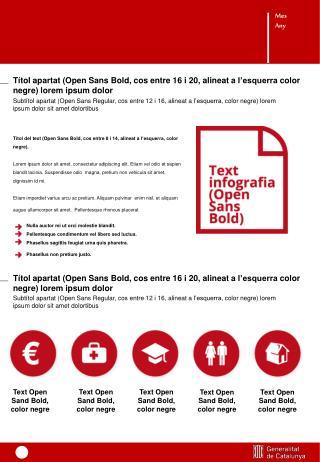 Títol  del text (Open Sans Bold,  cos  entre 8  i  14,  alineat  a  l'esquerra ,  color negre ).