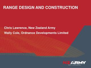 RANGE DESIGN AND CONSTRUCTION