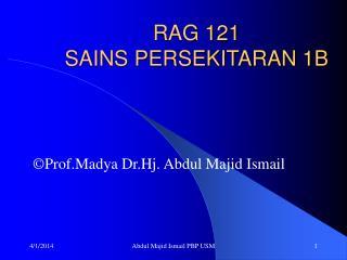 RAG 121 SAINS PERSEKITARAN 1B