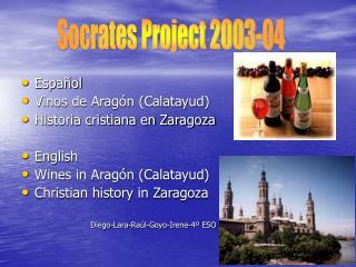 Español Vinos de Aragón (Calatayud) Historia cristiana en Zaragoza English